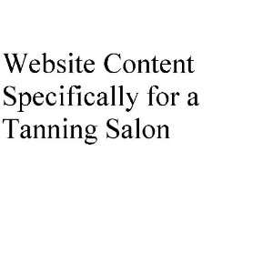 Website Content Specifically for a Tanning Salon (Custom