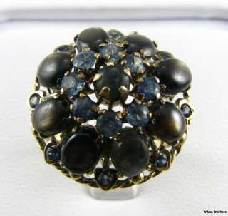 Star Sapphires & 1.14ctw Blue Sapphires   14k Gold RING A+
