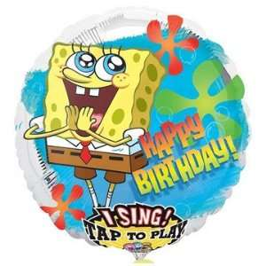 Happy Birthday Spongebob Squarepants Sing a Tune Foil