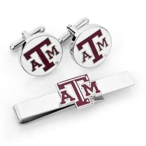 Aggies Cufflinks and Tie Bar Gift Set   CLI PD TAMU CT: Jewelry