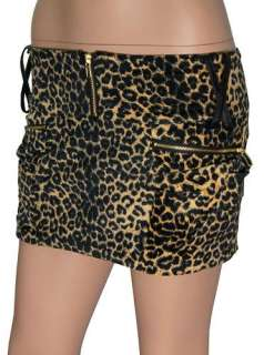 New Sexy Leopard Print Stretchy Mini Skirt SizeS, 29, AUsize8
