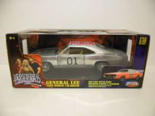 2005 1/18 ERTL RC2 Chrome Chaser General Lee Dukes Of Hazzard