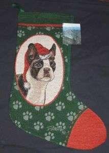 BOSTON TERRIER Tapestry Christmas Stocking ~ Picken
