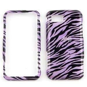 New Purple Black Zebra Samsung A867 Eternity Snap on Cell