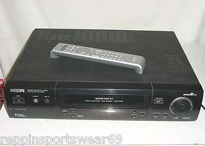 PHILIPS VR1010 Terbo Drive SVHS VCR Hi Fi Stereo S VHS