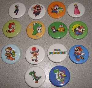 Lot 14 Super Mario World Buttons Pins Pinbacks Badges