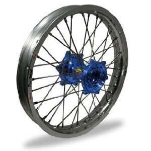 Pro Wheel Supermoto Front Wheel Set   17x3.50   Silver Rim/Blue Hub 26
