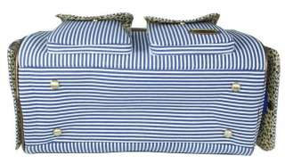 Petcare Pet Dog Cat Tote Bag Carrier Stripe Blue M