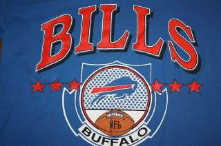 vtg 1990 BUFFALO BILLS jersey shirt * LOGO 7 * 50/50