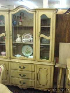 PROVINCIAL DINING ROOM SUITE TABLE CHAIRS CHINA CABINET BUFFET