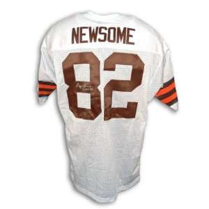 Ozzie Newsome Cleveland Browns Autographed White Throwback Jersey