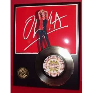 Olivia Newton John 24kt Gold Record LTD Edition Display
