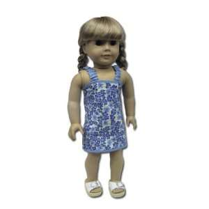 American Girl Doll Clothes Blue Sundress Toys & Games