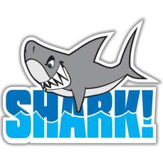 Shark Teeth Funny Cool car bumper sticker decal 4 x 5