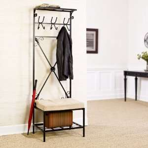 Entryway Storage Rack / Bench Seat: Home & Kitchen