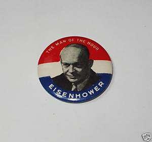 Campaign pin pinback button political Dwight Eisenhower