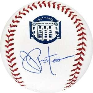 Joe Pepitone Autographed Ball   Yankee Stadium