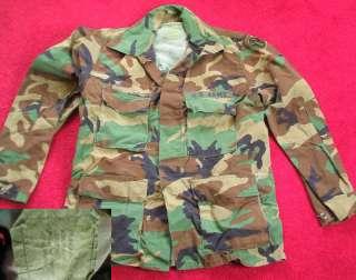 Mens US ARMY COMBAT CAMO COMBAT ROCKER COAT MEDIUM M Jacket