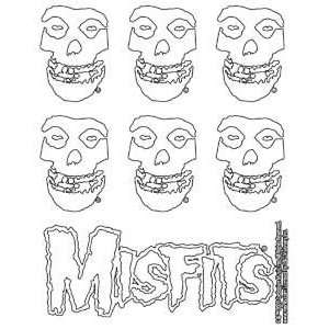 THE MISFITS SKULL LOGO STICKER SET: Home & Kitchen