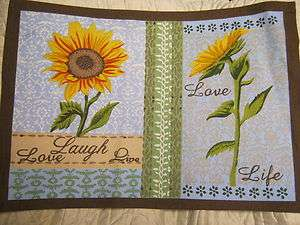 New Placemats Live Love Laugh Sunflowers Buy 2, 4 or 8 ~ 19x13