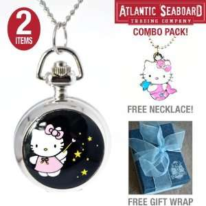 Star Magic Hello Kitty Locket Pendant Pocket Watch Necklace Chain