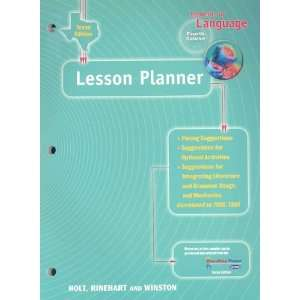 of Language Lesson Planner Fourth Course (9780030642623) Books