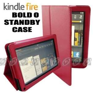 CaseNinja (Red) PU Leather Folio Case Cover for  Kindle Fire 7