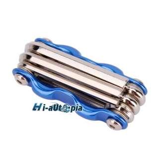 New 6 in 1 Bike Bicycle Multi Tool Repair Kits Blue