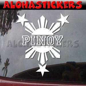 PINOY PHILIPPINES SUN STARS Vinyl Decal Car Sticker Q5