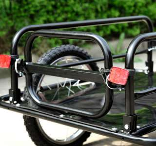 New Bicycle Bike Cargo Trailer Utility Luggage Cart Carrier Black W/4