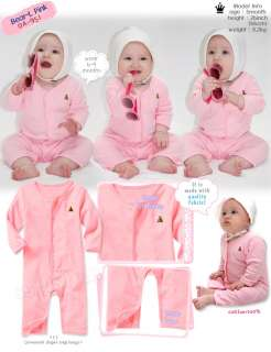 in Korea Lovely Bear Baby Boy Girl Infant Cotton Clothing /OA 951 pink