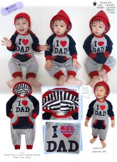 in Korea I Love Dad Baby Boy Girl Infant Warm Clothing / OA 301