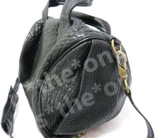 Genuine Real Sheep Leather Celebrity Handbag Rivet Studs Bag Studded