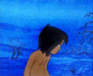 Disney, Jungle Book, Production Cels, Mowgli, Kaa, 1967