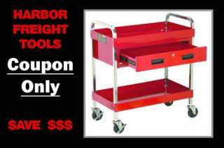 SAVE $50* Steel Service Cart Tool Box Cabinet Storage HARBOR FREIGHT