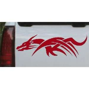 Tribal Dragon Car Window Wall Laptop Decal Sticker    Red