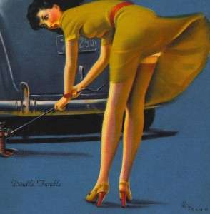 Art Frahm, 068 ~ DOUBLE TROUBLE ~ 7 x 9 Pin up