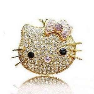 High Quality 16 Gb Hello Kitty Crystal Jewelry USB Flash Memory Drive