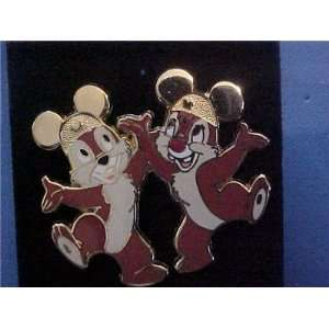 Disney Chip & Dale Golden Mickey Mouse Ears Pin
