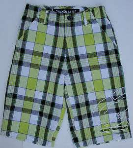NWT BOY PLAID SHORTS BY ECKO UNTLD 100% COTTON