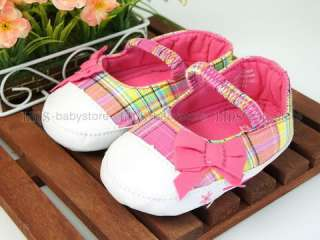 A247 new baby toddler girl pink checker shoes US 3 4 5