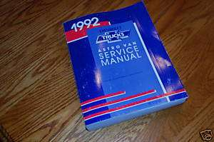 1992 Chevy Chevrolet Astro Van Service Manual NEW