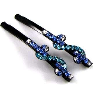 ADDL Item  2 Rhinestone crystal fashion $ hair side clip