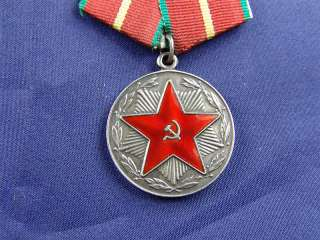 SOVIET 20 YEARS OF SERVICE IN RED ARMY MEDAL + CITATION