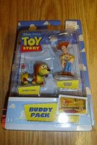 NEW~Disney~TOY STORY~BUDDY PACK~SLINKY DOG +SHERIFF WOODY FIGURE~PIXAR