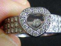 Chopard 18k White gold Happy Diamond Ring