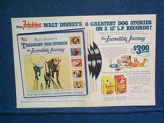 1964 Walt Disney Dog Stories Offer Pet Foods DBL PG. Ad
