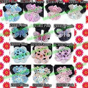 Crystal Hair Ponytail Holders Crown Butterfly Flower Bling