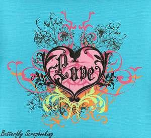 12x12 SCRAPBOOK Memory Scrapbooking Album Love Teal Blue Cloth Paper