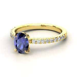 Colette Ring, Oval Sapphire 14K Yellow Gold Ring with